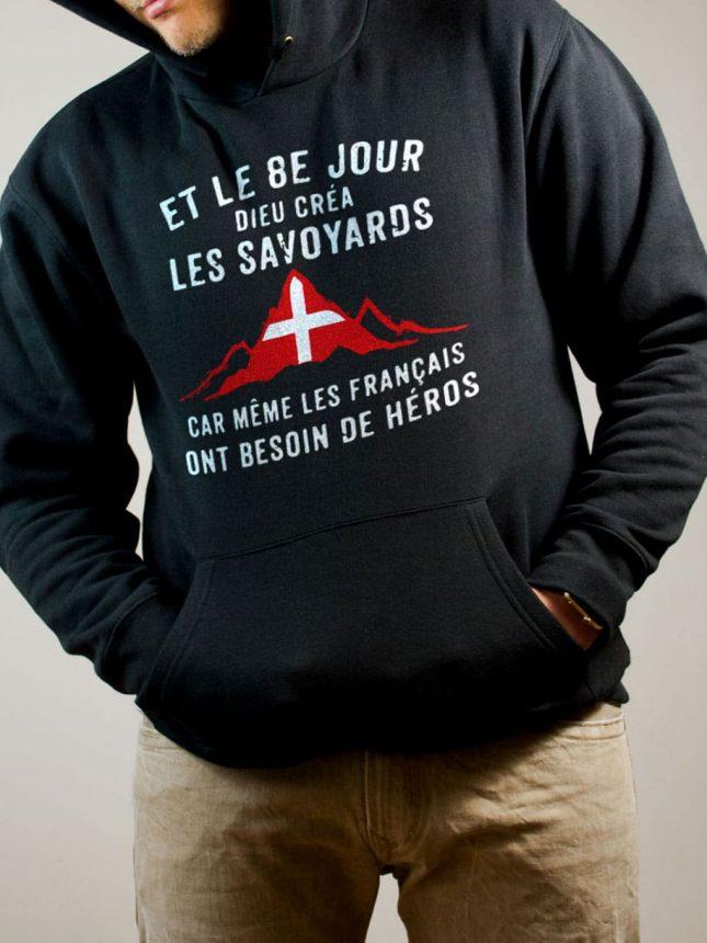 Sweat Savoie : Dieu créa les Savoyards homme noir