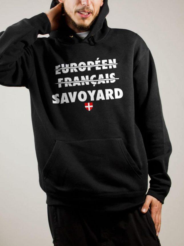 Sweat Savoie : Européen Français Savoyard homme noir