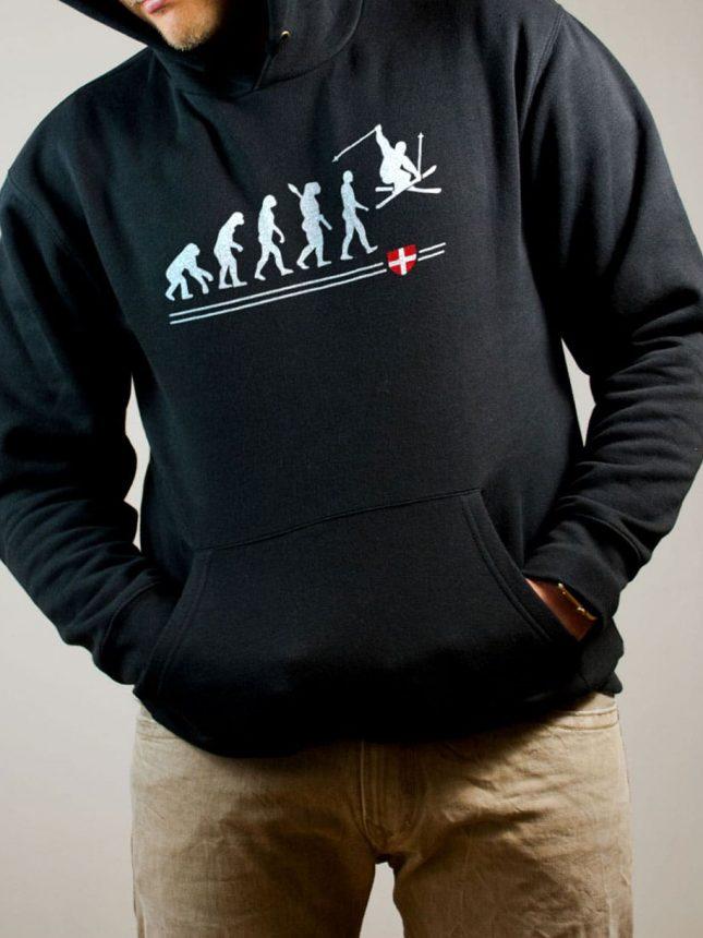 Sweat Ski : Évolution de l'homme en skieur homme noir