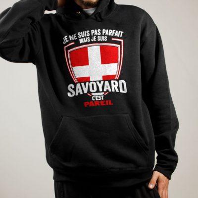 Sweat Savoie : Je ne suis pas parfait mais je suis Savoyard homme noir