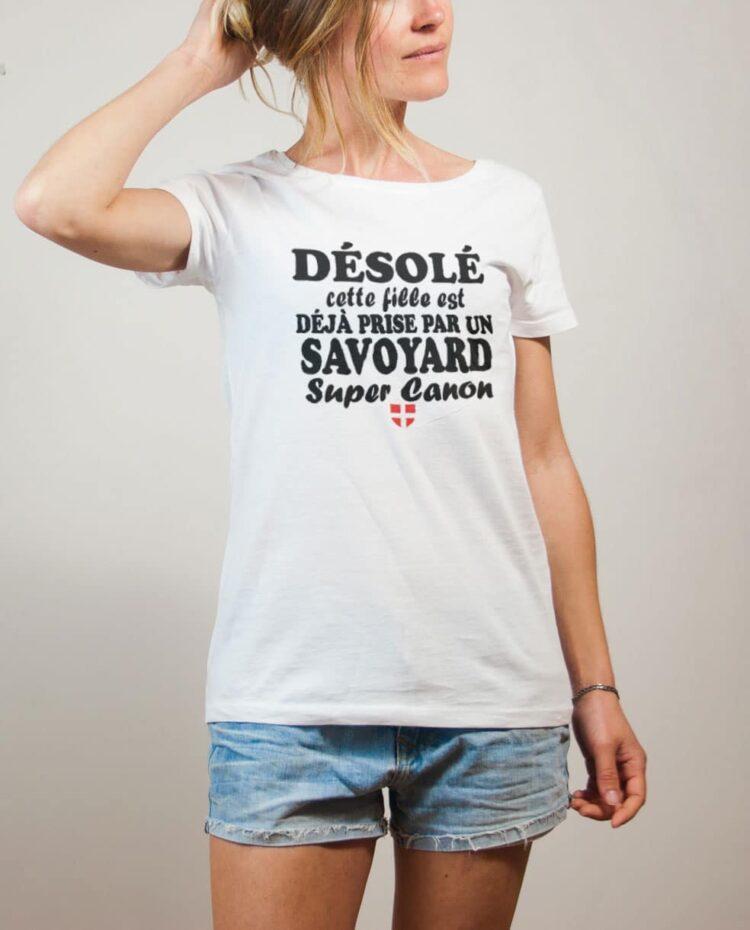 Tshirt Savoie : Fille déjà prise par un Savoyard canon femme blanc
