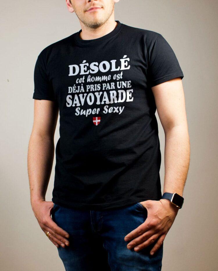 Tshirt Savoie : Homme déjà pris par une Savoyarde sexy noir
