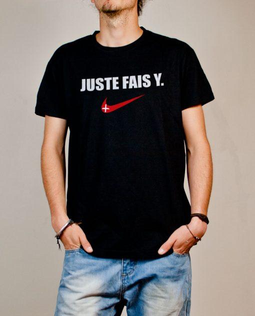 T-shirt Savoie : Juste fais y homme noir