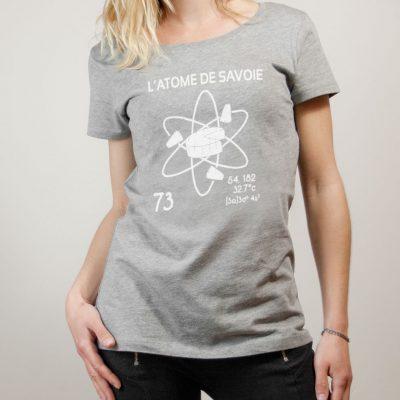 T-shirt Savoie : L'atome de Savoie 73 femme gris