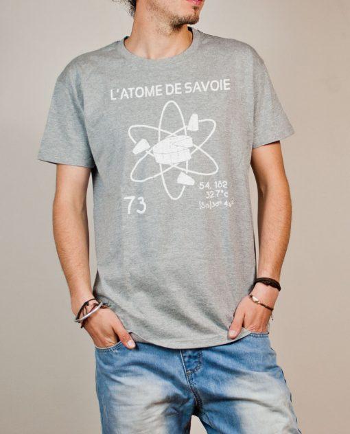 T-shirt Savoie : L'atome de Savoie 73 homme gris