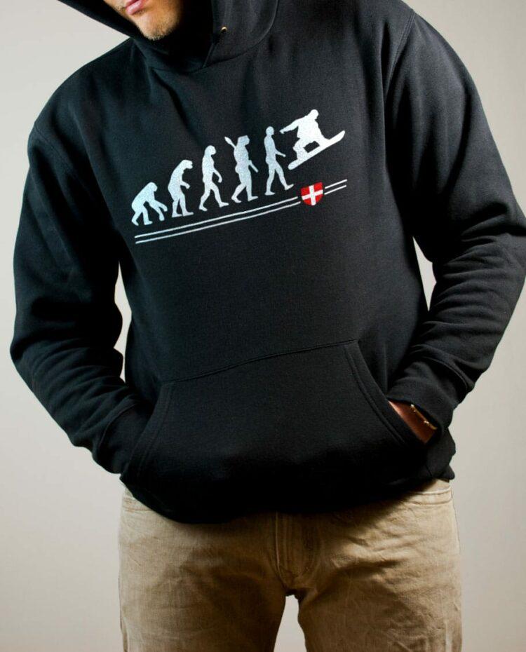 Sweat Snowboard : Évolution de l'homme en snowboarder homme noir