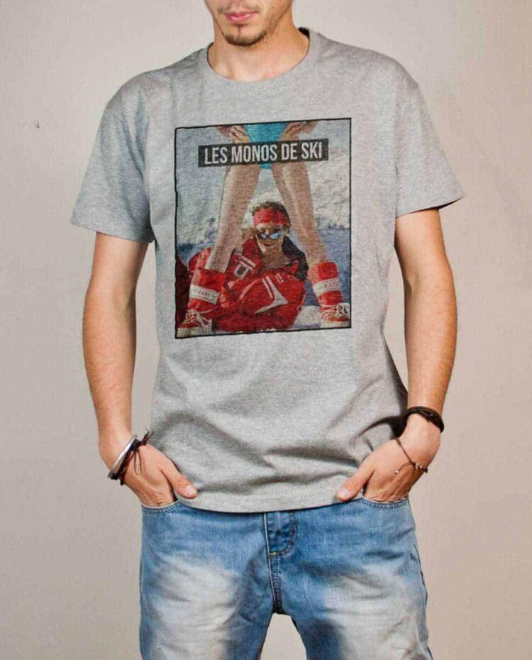 T-shirt Palmashow : Les monos de ski homme gris