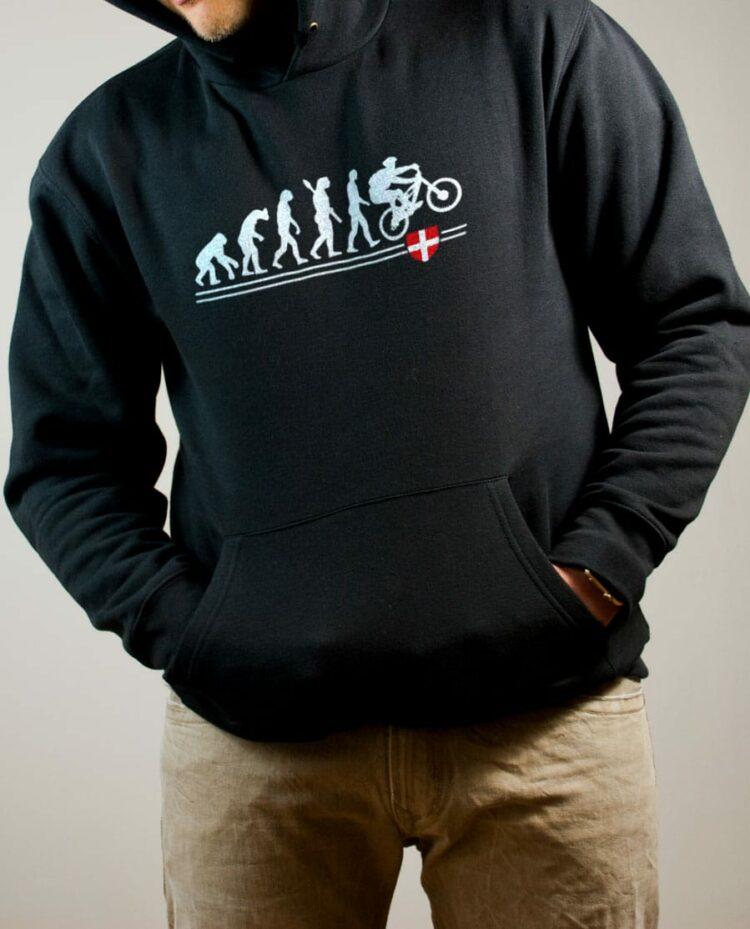 Sweat VTTiste : Évolution de l'homme en rider de VTT homme noir