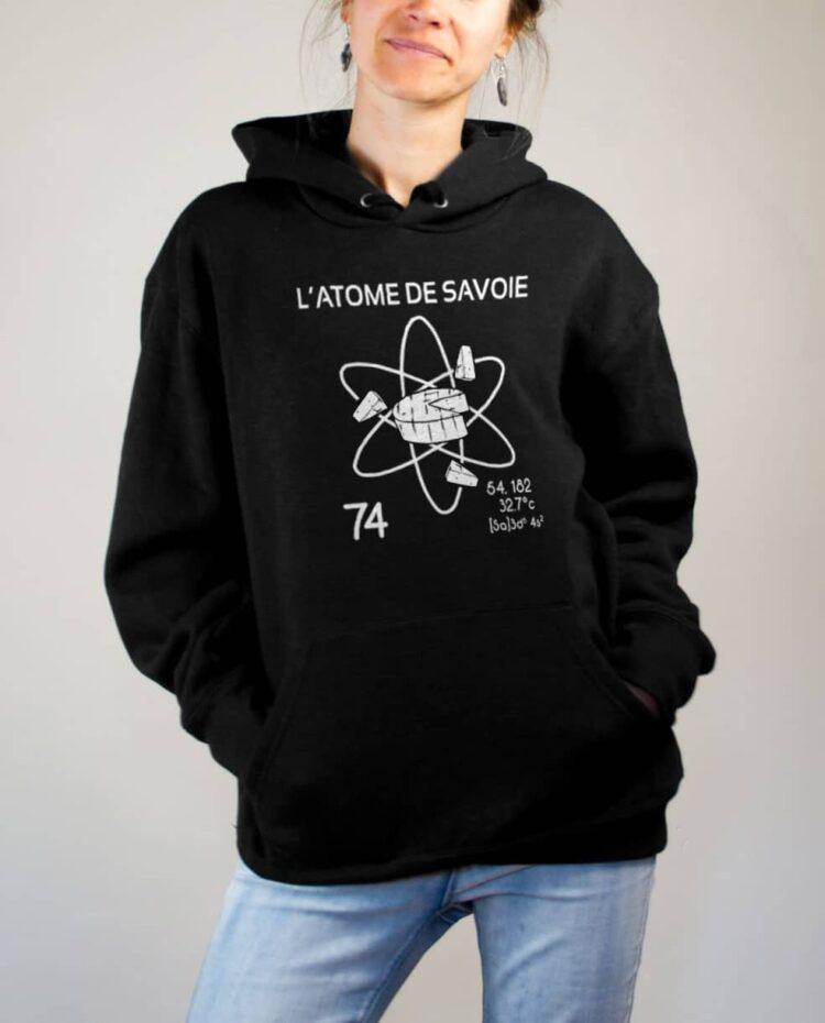 Sweat Savoie : L'atome de Savoie 74 femme noir