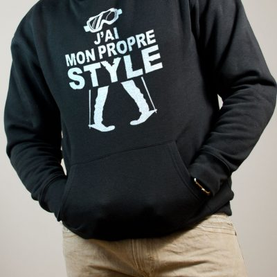 Sweat Ski : J'ai mon propre style homme noir