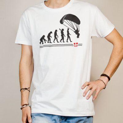 T-shirt Parapente : Évolution de l'homme en parapentiste homme blanc