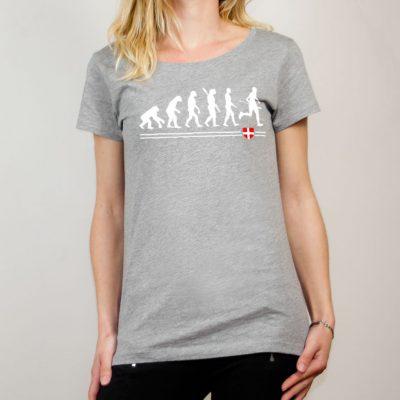 T-shirt Joggeur : Évolution de l'homme en coureur de trail femme gris