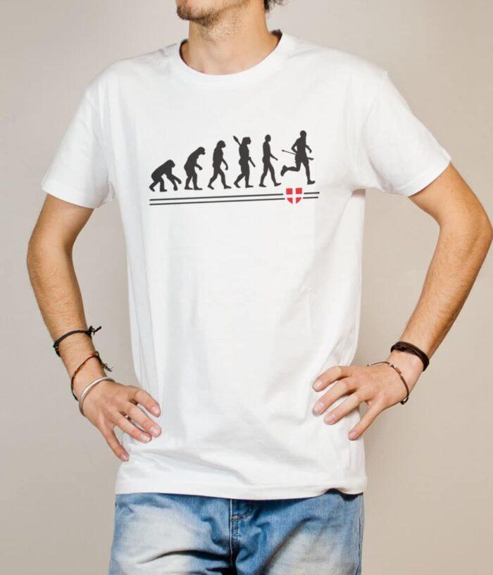 T-shirt Joggeur : Évolution de l'homme en coureur de trail homme blanc