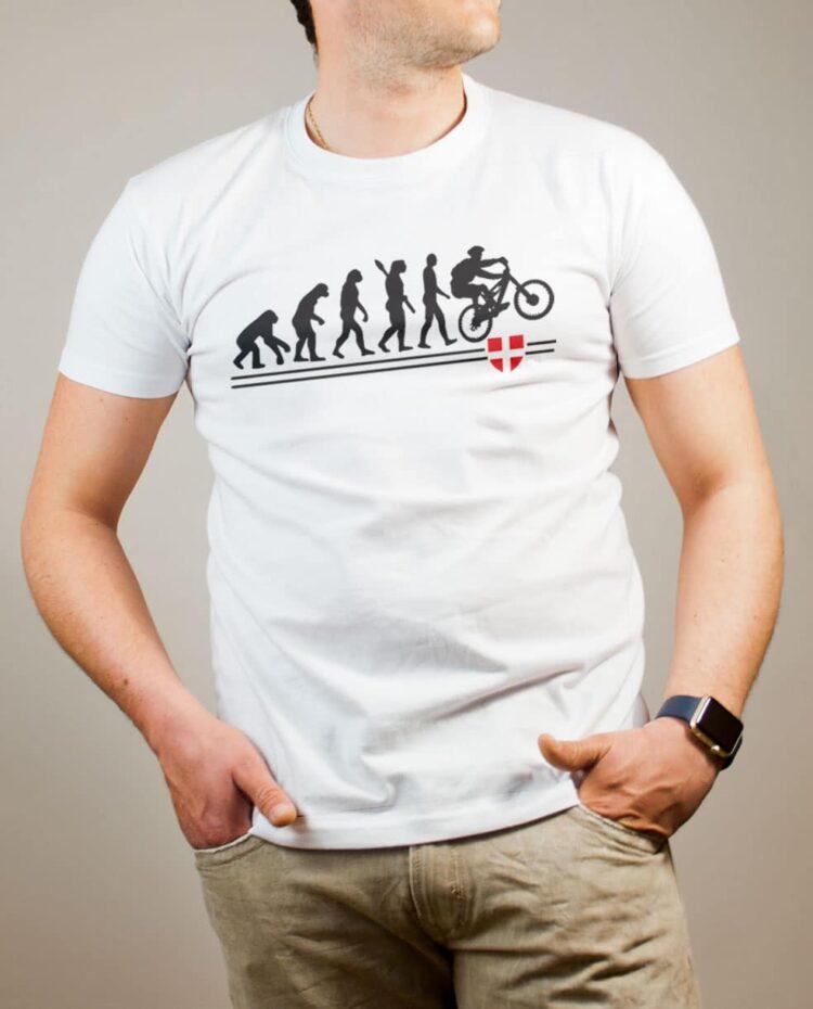 T-shirt VTTiste : Évolution de l'homme en rider de VTT homme blanc