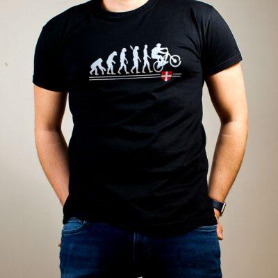 T-shirt VTTiste : Évolution de l'homme en rider de VTT homme noir