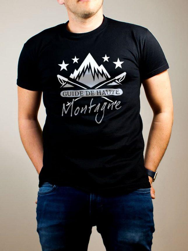 T-shirt Montagnard : Guide de Haute Montagne homme noir