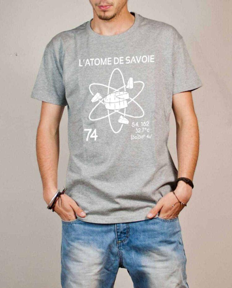 Tshirt Savoie : L'atome de Savoie 74 homme gris