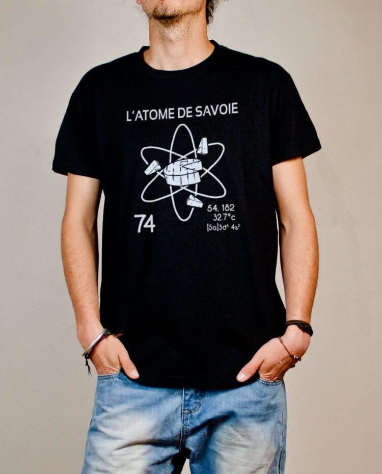 Tshirt Savoie : L'atome de Savoie 74 homme noir