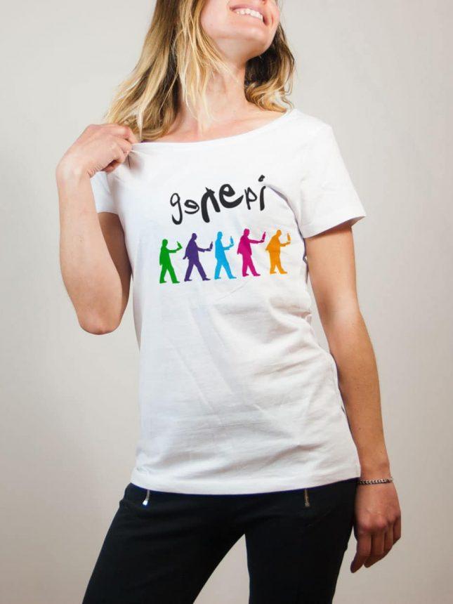 T-shirt Savoie : Genepi Genesis femme blanc