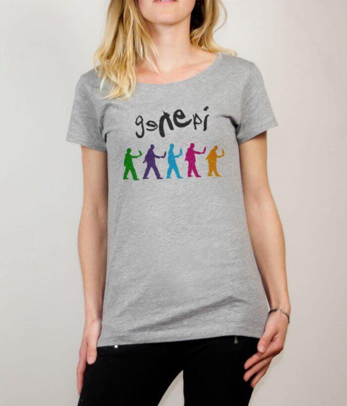 T-shirt Savoie : Genepi Genesis femme gris