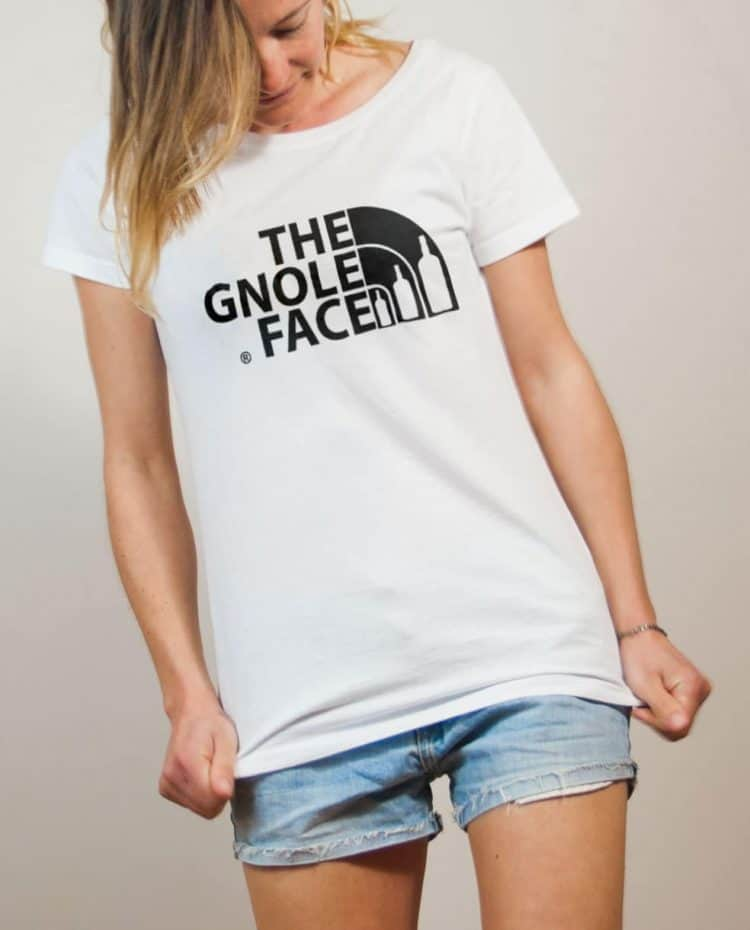 T-shirt Savoie : The Gnole Face femme blanc