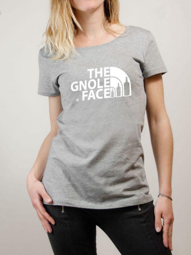 T-shirt Savoie : The Gnole Face femme gris