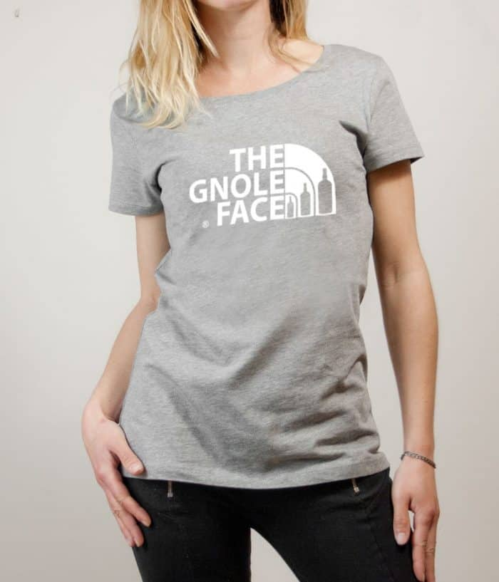 T-shirt Savoie : The Gnole Face femme gris
