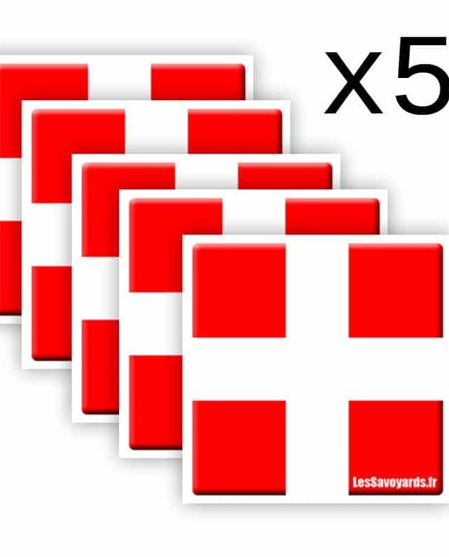 5 Autocollants Savoie