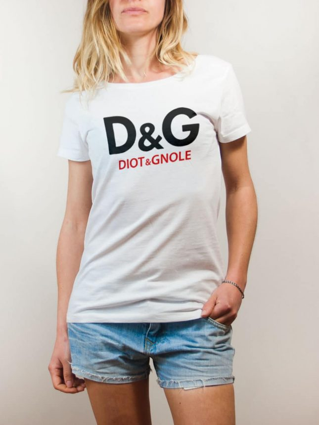T-shirt Savoie : D&G Diot & Gnole femme blanc