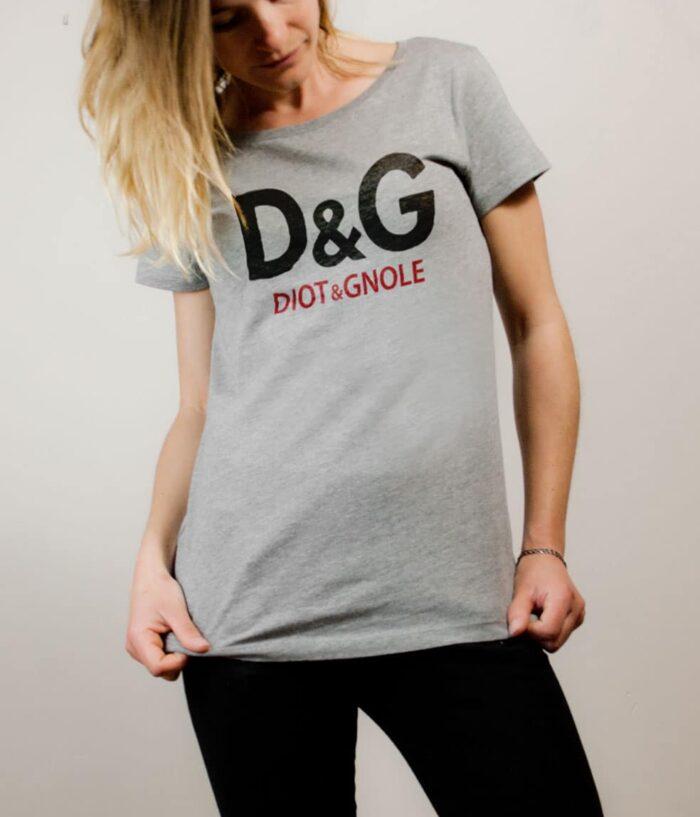 T-shirt Savoie : D&G Diot & Gnole femme gris