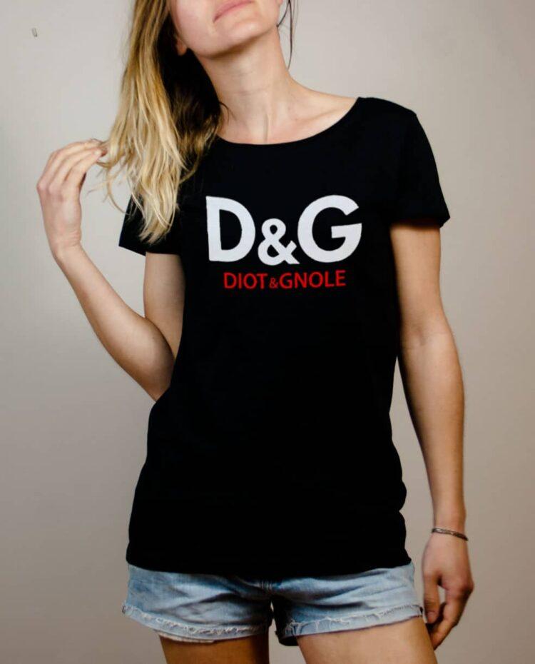 T-shirt Savoie : D&G Diot & Gnole femme noir