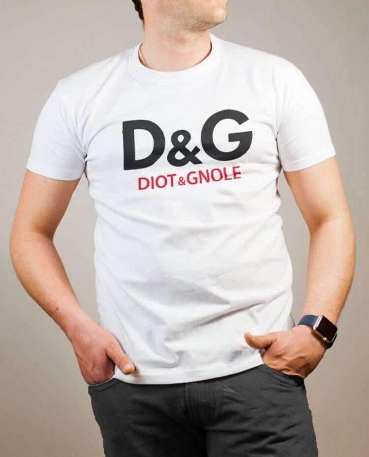 T-shirt Savoie : D&G Diot & Gnole homme blanc
