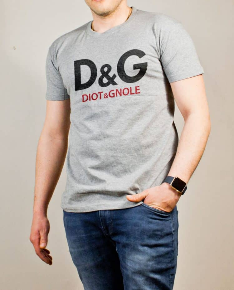 T-shirt Savoie : D&G Diot & Gnole homme gris