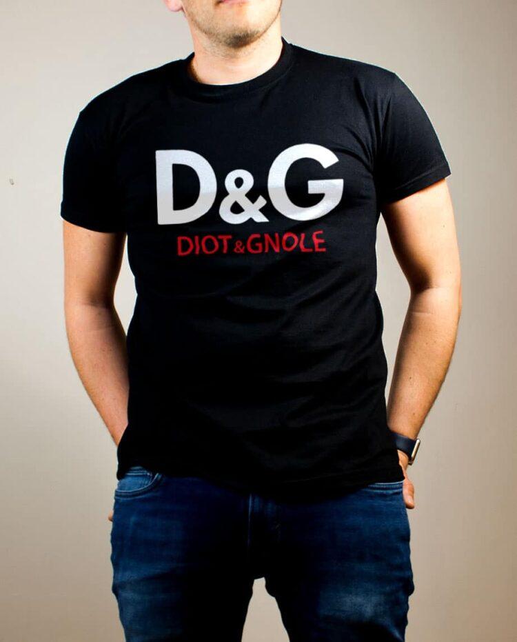 T-shirt Savoie : D&G Diot & Gnole homme noir