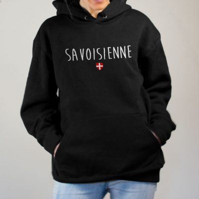 Sweat Savoisienne femme noir
