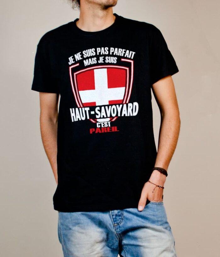 T-shirt Haute-Savoie : Pas parfait mais Haut-Savoyard homme noir