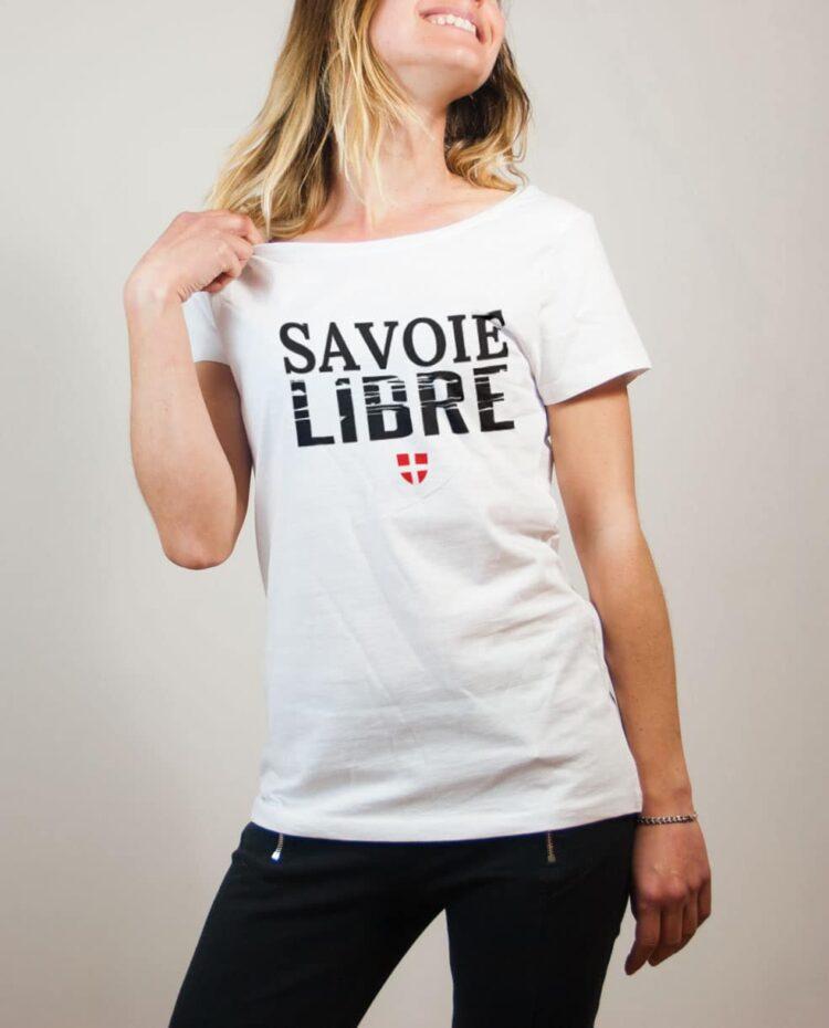 T-shirt Savoie Libre femme blanc