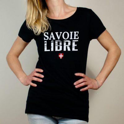 T-shirt Savoie Libre femme noir