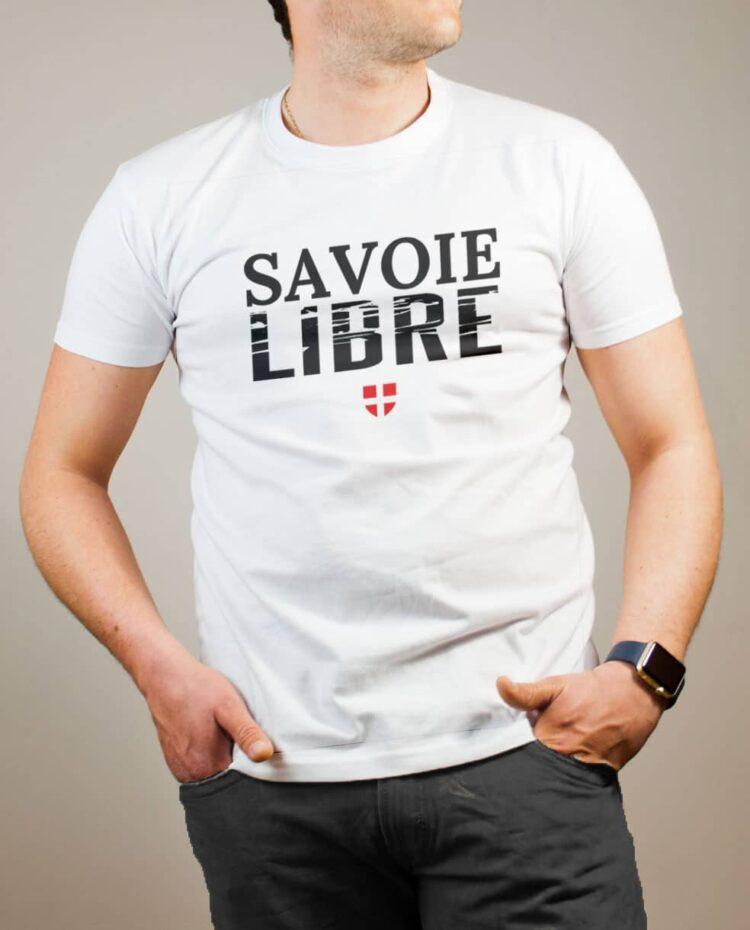 T-shirt Savoie Libre homme blanc