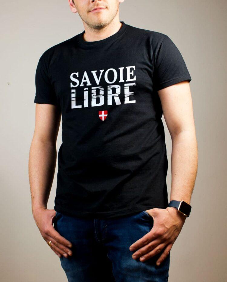 T-shirt Savoie Libre homme noir