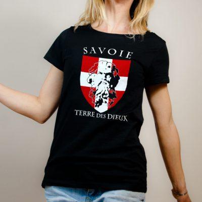 T-shirt Savoie Terre des Dieux femme noir