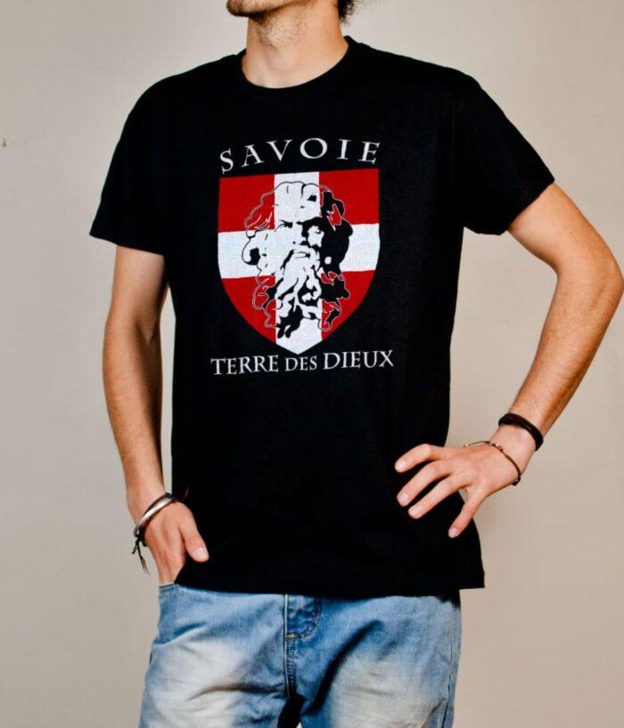 T-shirt Savoie Terre des Dieux homme noir