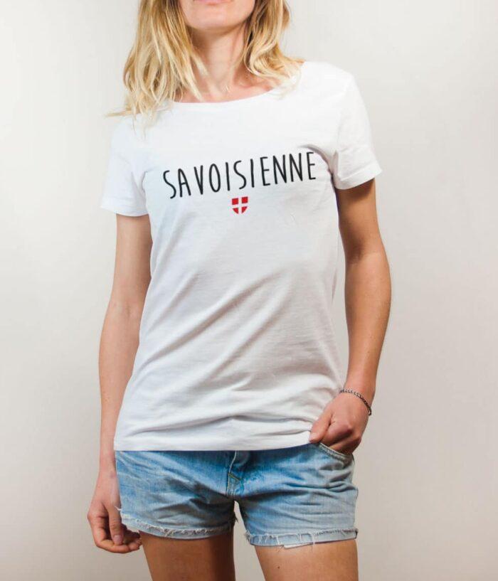 T-shirt Savoisienne femme blanc