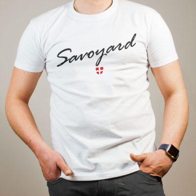 T-shirt Savoyard Savoie homme blanc