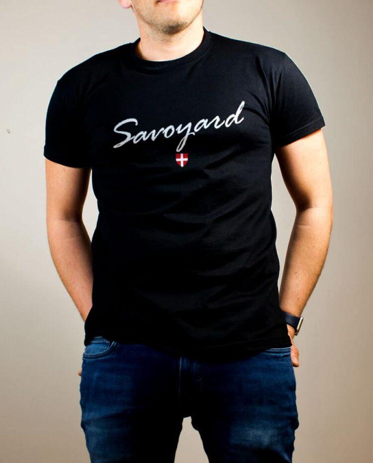 T-shirt Savoyard Savoie homme noir