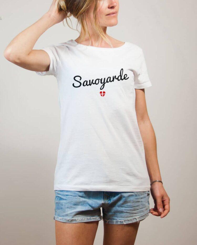 T-shirt Savoyarde Savoie femme blanc