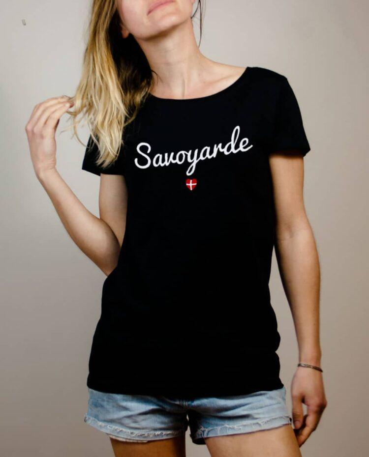 T-shirt Savoyarde Savoie femme noir