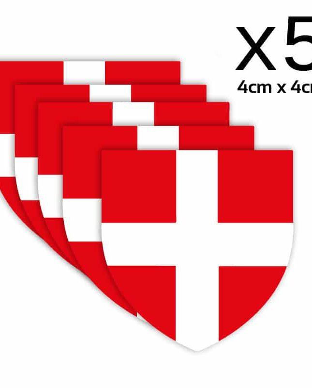 5 Autocollants Blason Savoie