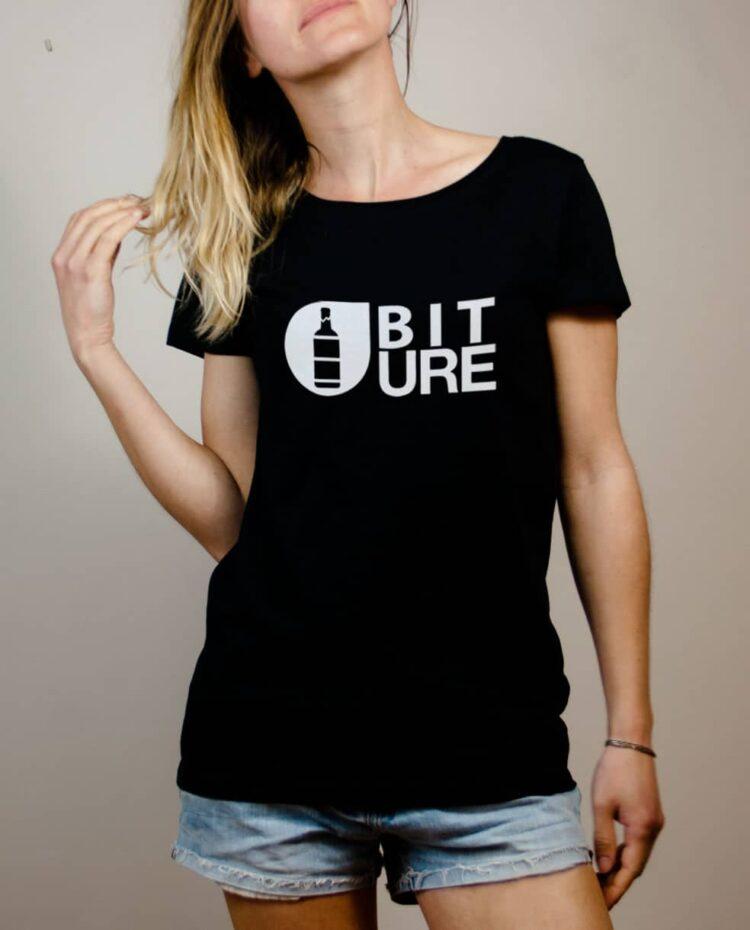 T-shirt Savoie : Biture parodie Picture femme noir