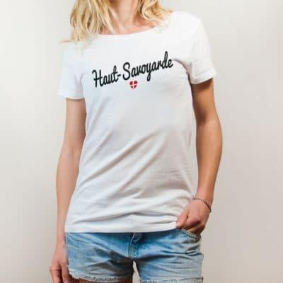 T-shirt Haute-Savoie : Haut-Savoyarde femme blanc